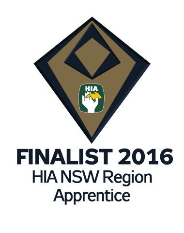 NSW Housing Awards Finalist 2016 Apprentice